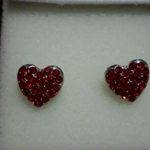 Beautiful vintage earrings heart